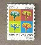 Stamps Portugal -  Abril y la evolución