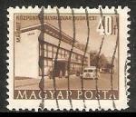 Stamps Hungary -  Edificio del plan quinquenal de Budapest