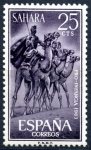 Stamps : Europe : Spain :  SAHARA ESPAÑA_SCOTT 134.02 JINETES DE CAMELLO. $0.20