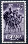 Stamps : Europe : Spain :  SAHARA ESPAÑA_SCOTT 134.01 JINETES DE CAMELLO. $0.20