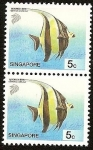 Sellos del Mundo : Asia : Singapur : Peces - Moorish Idol