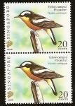 Stamps Asia - Singapore -  Aves - Papamoscas de lomo amarillo