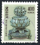 Stamps : Asia : South_Korea :  COREA DEL SUR_SCOTT 1267 QUEMADOR INCIENSO CERAMICA CELADON KORYO. $0.40