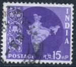 Stamps India -  INDIA_SCOTT 310.02 MAPA INDIA(15NP)