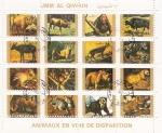 Stamps : Asia : United_Arab_Emirates :  FAUNA EN PELIGRO DE EXTINCIÓN