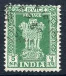 Sellos de Asia - India -  INDIA_SCOTT O140.02 LEON DE PILARES DE ASOKA(5NP) $0,20