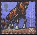 Stamps : Europe : United_Kingdom :  GRAN BRETAÑA 1999 1824 Sello Milenium Agricultura Caballo C. WORME Great BritainLL Usado
