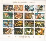 Stamps United Arab Emirates -  OLIMPIADA DE MUNICH-72