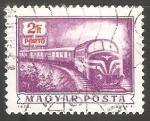 Stamps Hungary -  Tren de correo diesel