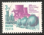 Sellos de Europa - Hungría -  25aniversario de la cooperacion tecnologica Rusia-Hungria