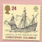 Stamps United Kingdom -  EUROPA - llegada a América de Colón - Carabela