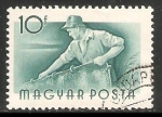 Stamps Hungary -  Pescador