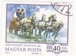 Sellos de Europa - Hungría -  COCHE DE CABALLOS