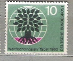 de Europa - Alemania -  1960 A�o mundial del refugiado.