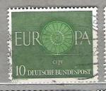 de Europa - Alemania -  1960 Europa. Rueda.