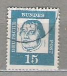 de Europa - Alemania -  1961 Personajes. Papel blanco normal.*