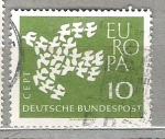 de Europa - Alemania -  1961 Europa. 19 palomas formando una sola.