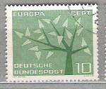 de Europa - Alemania -  1962 Europa. �rbol con 19 hojas.