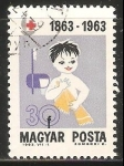 Sellos de Europa - Hungría -  Niño con toalla y cepillo de dientes