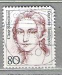 Sellos del Mundo : Europa : Alemania :  1986 Mujeres famosas. Christine Teuch, 1888-1968 y Clara Schumann, 1819-1886