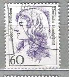 Sellos del Mundo : Europa : Alemania :  1987 Mujeres famosas. Maria Sibylla Merian, 1647-1717 y Dorothea Erxleben, 1715-1762