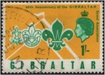 Sellos del Mundo : Europa : Gibraltar : Emblemas de los Grupos Scouts