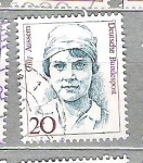 Sellos del Mundo : Europa : Alemania :  1988 Mujeres famosas. Cilly Aussem, 1909-1963 y Lise Meitner, 1878-1968