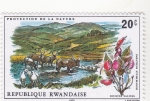 Stamps Rwanda -  PROTECCION DE LA NATURALEZA