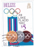 Stamps Belize -  OLIMPIADA DE INVIERNO LAKE PLACID´80