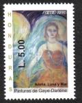 Stamps Honduras -  Paintings from Gaye-Darléne Bidart de Satulsky