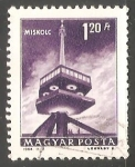 Stamps Hungary -  Torre de television