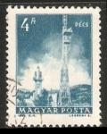 Stamps Hungary -  Torre de TV de Pécs