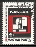 Stamps Hungary -  Obra abstrata por Lajos Kassak