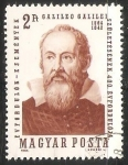 Stamps Hungary -  Galileo Galilei (1564-1642)