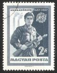 Sellos de Europa - Hungría -  Hombre con rifle