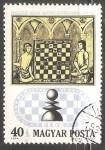 Sellos de Europa - Hungría -   juego de ajedrez en el siglo 17