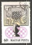 Stamps Hungary -   juego de ajedrez en el siglo 17
