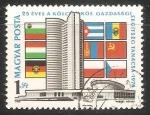 Sellos de Europa - Hungría -  25 aniversario del Consejo de Ayuda Mutua Económica
