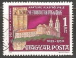 Stamps Hungary -   Abadía de Tihany