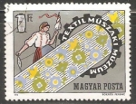 Sellos de Europa - Hungría -  Museo de técnicas  alta costura