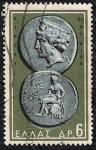 Sellos de Europa - Grecia -  Afrodita y Apolo