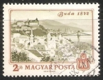 Sellos de Europa - Hungría -  Vista de Budapest 1872