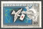 Stamps Hungary -  Cartas y paloma mensajera