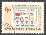 Sellos de Europa - Hungría -  Niños con banderas