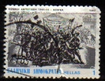 Stamps Greece -  GRECIA GRECEE 1982 Scott 1436 Sello Resistencia Nacional Usado
