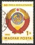 Sellos de Europa - Hungría -  50 años de la Union Sovietica