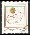 Stamps Hungary -  mapa