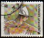 Stamps Europe - Greece -  GRECIA GRECEE 1986 Scott 1547 Sello Dibujos Dioses Griegos Hermes Usado