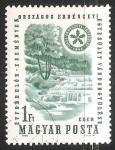 Sellos de Europa - Hungría -  Cataratas y floresta