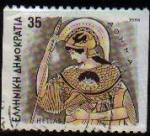 Stamps Europe - Greece -  GRECIA GRECEE 1986 Scott 1550 Sello Dibujos Dioses Griegos Atenea Usado